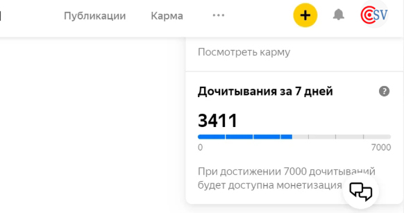 7000 дочитываний Яндекс Дзен